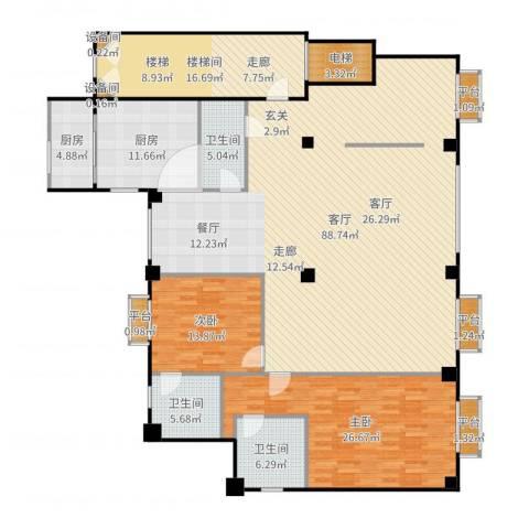 米兰DC二期2室1厅3卫2厨235.00㎡户型图