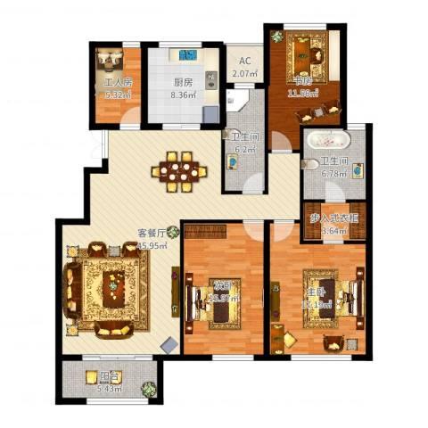 金地紫云庭3室2厅2卫1厨161.00㎡户型图
