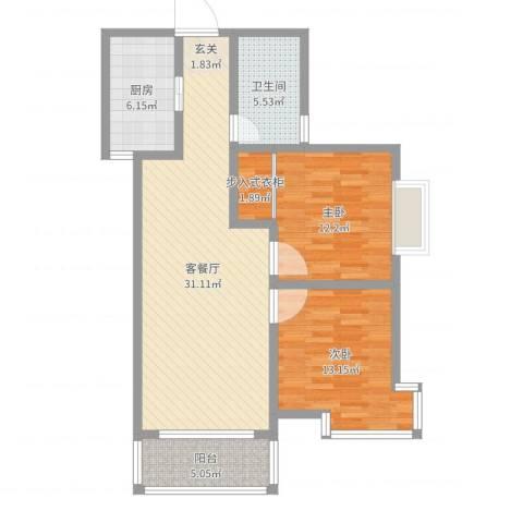 翡翠庄园2室2厅1卫1厨94.00㎡户型图