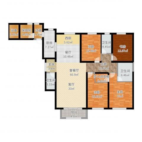 金地紫云庭4室2厅3卫1厨193.00㎡户型图