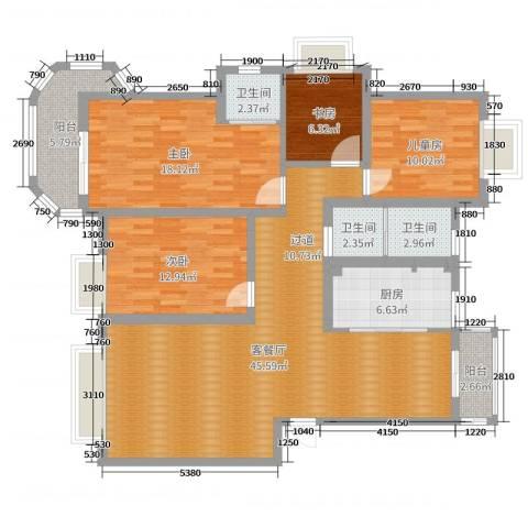 开元新都4室2厅3卫1厨145.00㎡户型图