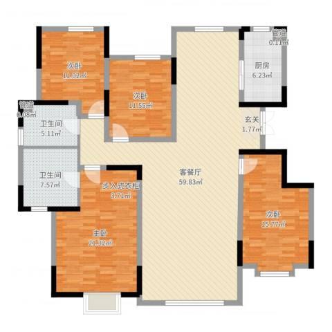 鲁能领秀城・漫山香墅4室2厅2卫1厨173.00㎡户型图