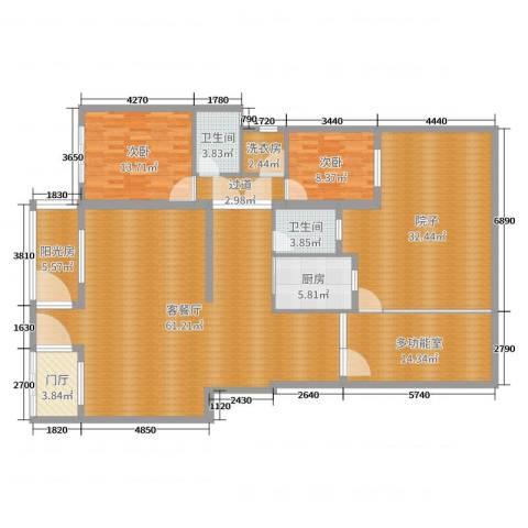 左邻右里2室2厅2卫1厨198.00㎡户型图