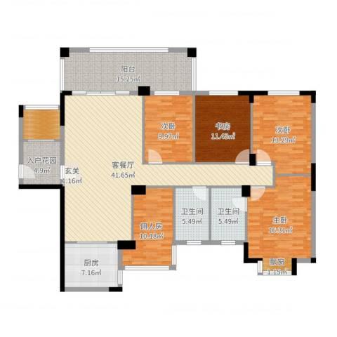 金田苑4室2厅2卫1厨181.00㎡户型图