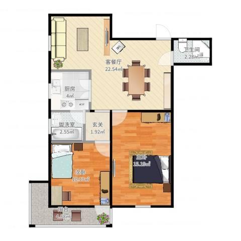 望京路10号院2室4厅1卫1厨79.00㎡户型图