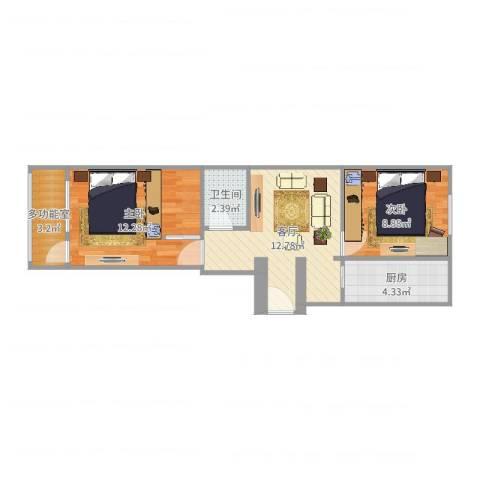 青塔芳园2室1厅1卫1厨55.00㎡户型图
