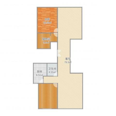 长风画卷1室1厅1卫1厨172.00㎡户型图