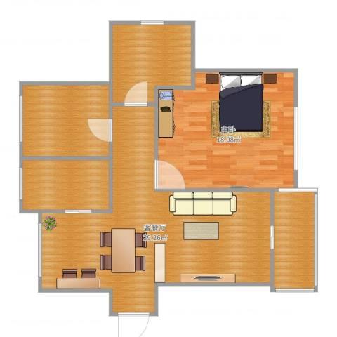 金杨金台苑1室2厅3卫1厨89.00㎡户型图