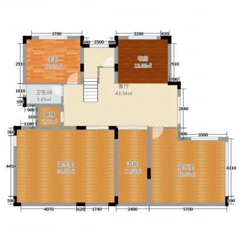 尚岭・清华苑1室1厅1卫0厨155.00㎡户型图