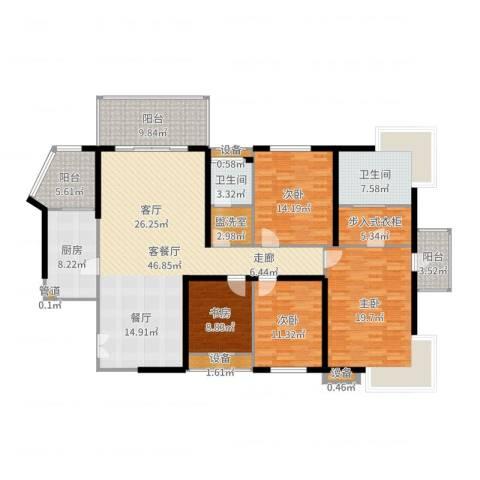 长江之家4室2厅2卫1厨188.00㎡户型图