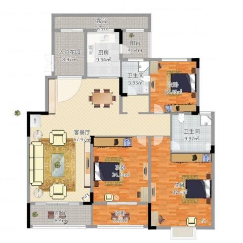 香江帝景4室3厅2卫1厨254.00㎡户型图