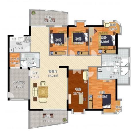 金裕碧水湾5室2厅3卫1厨237.00㎡户型图