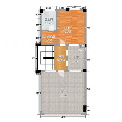 黄金海岸1室0厅1卫0厨205.00㎡户型图