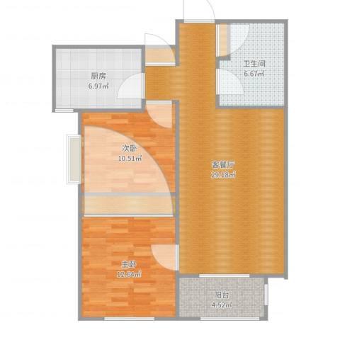 天津-锦绣里-两室两厅一厨一卫92平-LR2室2厅1卫1厨92.00㎡户型图