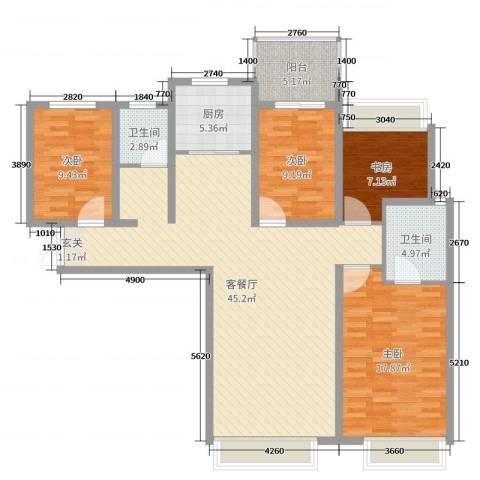 林凯城4室2厅2卫1厨134.00㎡户型图