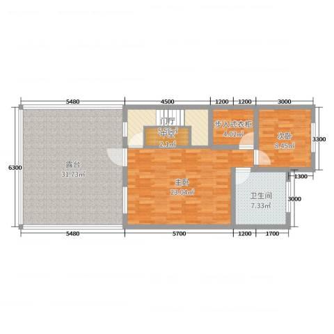 山水美居别墅2室0厅1卫0厨262.00㎡户型图