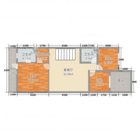 山水美居别墅3室2厅2卫0厨262.00㎡户型图