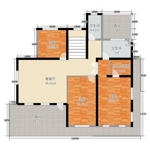 山水美居别墅3室2厅2卫0厨434.00㎡户型图