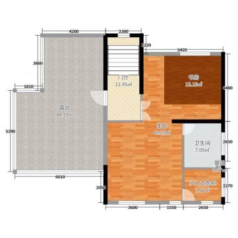山水美居别墅1室0厅1卫0厨434.00㎡户型图