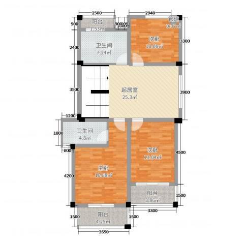 文象府3室0厅2卫0厨102.00㎡户型图