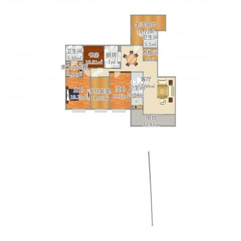 融景湾3室1厅3卫1厨226.00㎡户型图