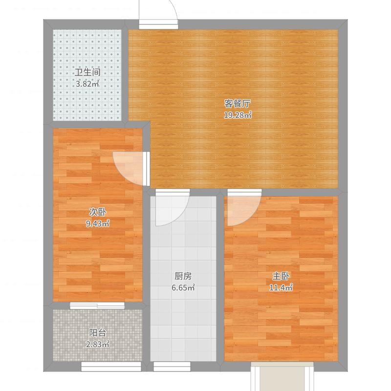 在水一方75平两室两厅