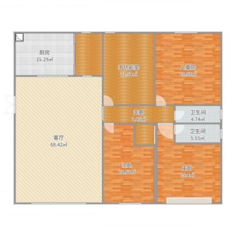 鸥鹏凤凰国际新城3室1厅1卫1厨262.00㎡户型图