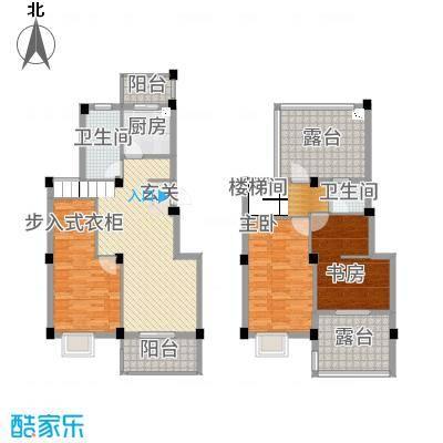 丰乐怡庭146.00㎡A1加阁楼户型4室2厅2卫1厨