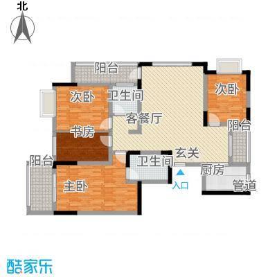 万泰・滨湖新城18.00㎡户型3室1厅2卫1厨