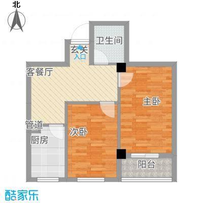 绿城.蓝天林海61.27㎡绿城蓝天林海C户型2室1厅1卫1厨