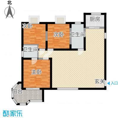 香榭丽舍13.77㎡4户型3室1厅2卫1厨
