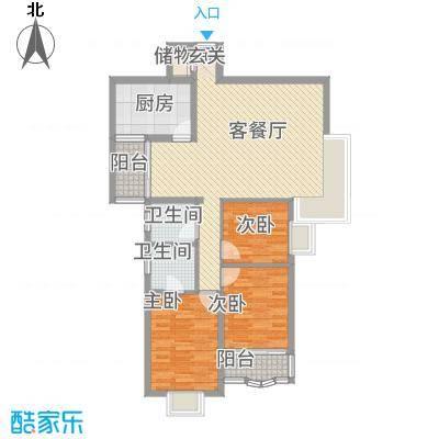 金桂轩114.00㎡户型2室