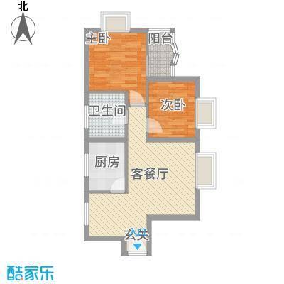 金桂轩68.00㎡户型2室