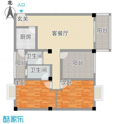 花园星河城18.26㎡单页-D3户型2室2厅2卫1厨