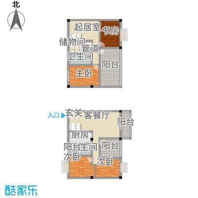 花园星河城156.67㎡单页-E6户型3室3厅2卫1厨