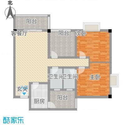 花园星河城17.10㎡单页-D2户型2室2厅2卫1厨