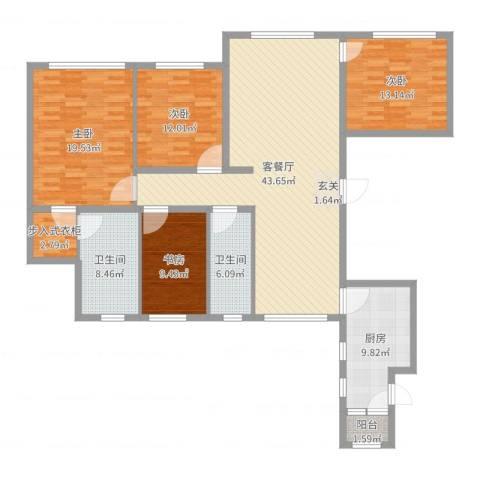 星光域4室2厅2卫1厨158.00㎡户型图