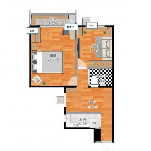 六里桥北里2室1厅1卫1厨55.00㎡户型图