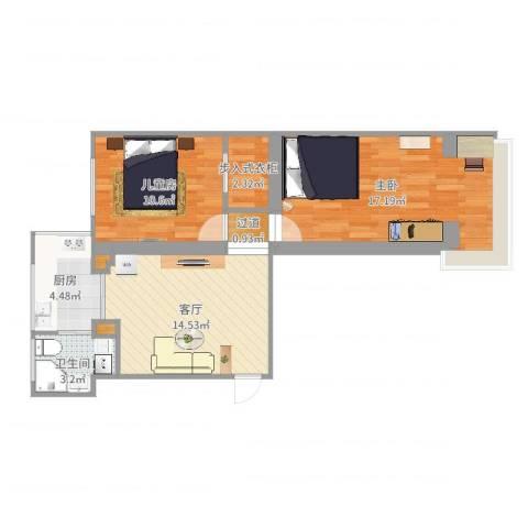 文化楼2室1厅2卫3厨67.00㎡户型图