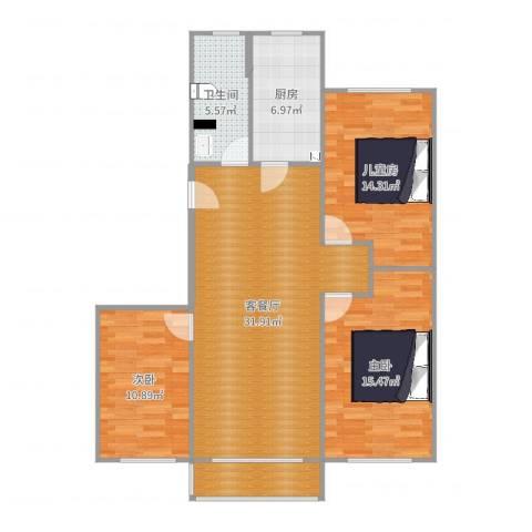 碧海云天3室2厅1卫1厨111.00㎡户型图