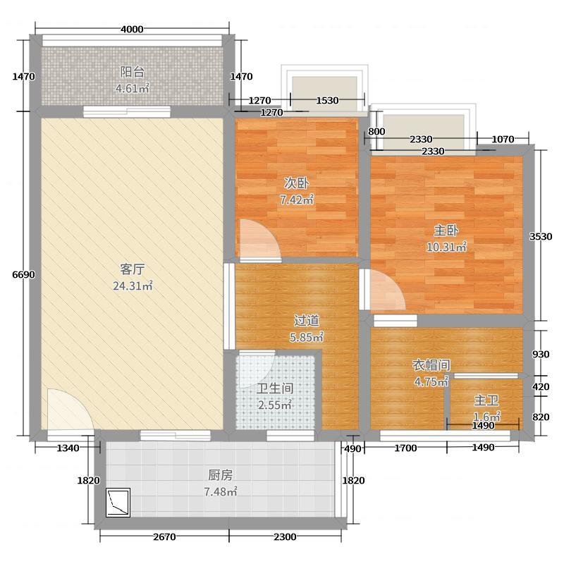 青岗湾二期1栋8-3中式-隆飞