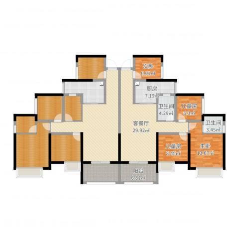 天湖御林湾4室2厅2卫1厨214.00㎡户型图