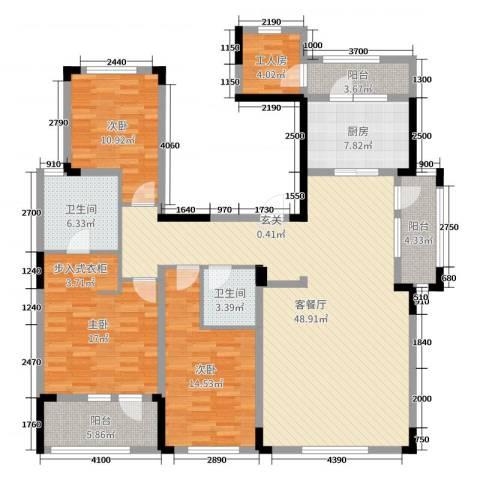 长春壹号院3室2厅2卫1厨126.77㎡户型图