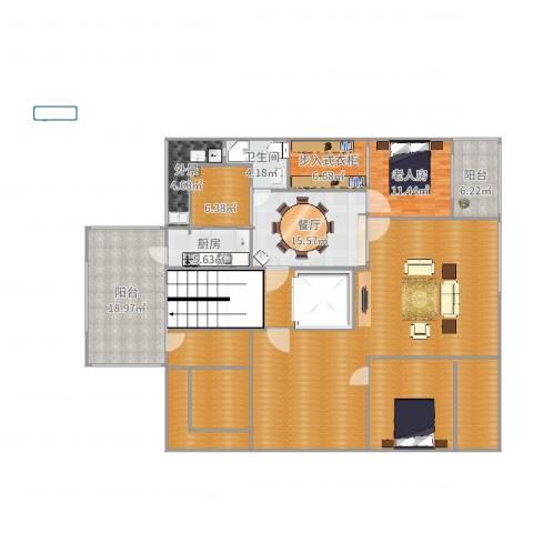 保利茉莉公馆别墅1室1厅1卫1厨195.08㎡户型图