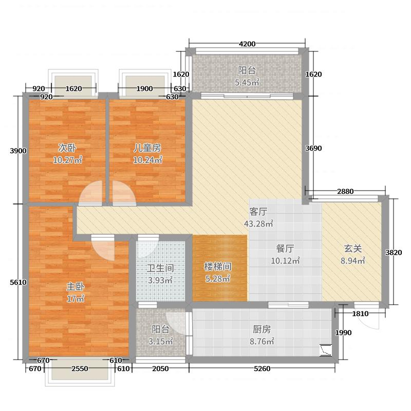 刘杰/育才都市家园二期(1楼)/现代简美