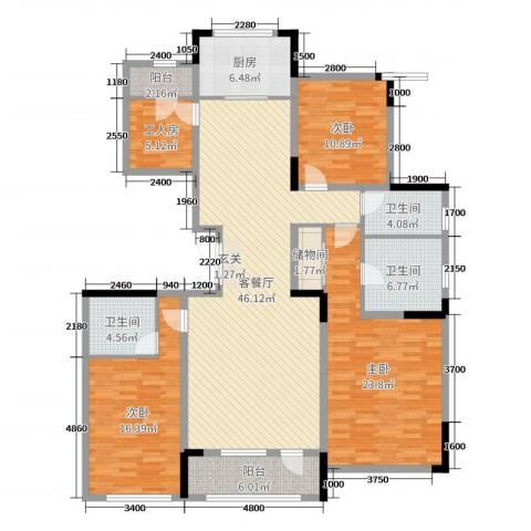 长春壹号院3室2厅3卫1厨134.15㎡户型图