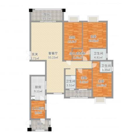 钻石海岸4室2厅3卫1厨203.00㎡户型图