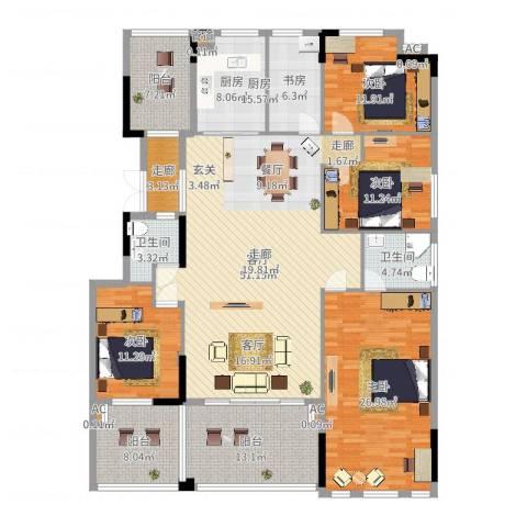 劲嘉金棕榈湾5室1厅2卫1厨209.00㎡户型图