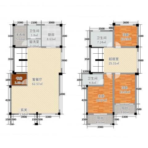 文象府4室2厅3卫1厨212.00㎡户型图