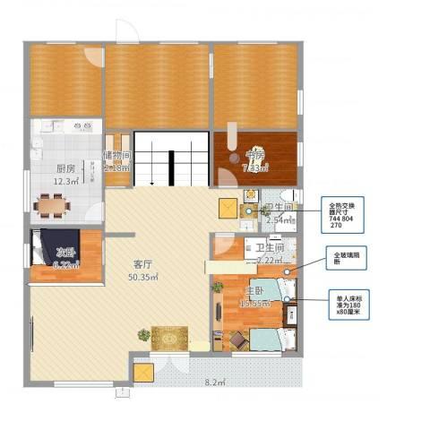 裕隆花园5025号1F3室1厅1卫1厨182.00㎡户型图